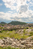View over the city of Plovdiv, Bulgaria. View of over the city of Plovdiv, Bulgaria, with surrounding mountains Royalty Free Stock Photos