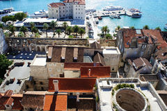View over city of Split Royalty Free Stock Image