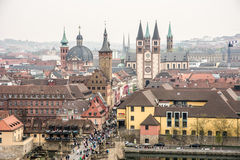View over the City of Wuerzburg Stock Photo
