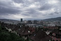 View over the city Zurich royalty free stock photography