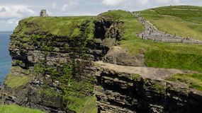 View over the Cliffs of Moher Royalty Free Stock Photos