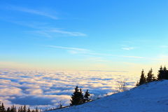 View Over The Clouds. In The Alps Royalty Free Stock Image