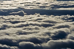View over clouds from mountain Stock Images