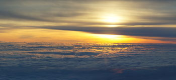 View over the clouds Stock Photography