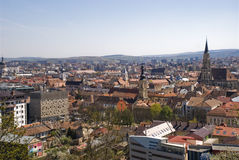 View over Cluj-Napoca, Romania Royalty Free Stock Image