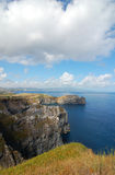 View over the coast of the Azores Royalty Free Stock Photography