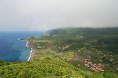 View over the coast of the Azores. Portugal Royalty Free Stock Photo