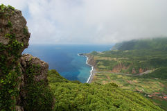 View over the coast of the Azores Stock Images
