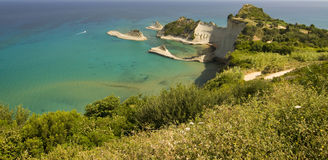 View over the coast of Corfu Royalty Free Stock Image