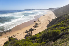 View over coast on the Garden Route, South Africa. View over coast on the Garden Route in South Africa royalty free stock images