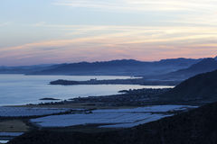 View over the coast of Mazarron, Spain Royalty Free Stock Images