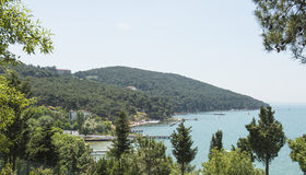 View over coastal bay of island Royalty Free Stock Image