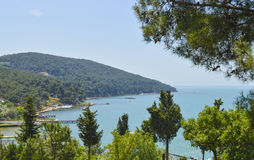 View over coastal bay of island Royalty Free Stock Photography