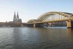 View over Cologne in Germany Stock Photo