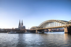 View over Cologne in Germany Royalty Free Stock Images
