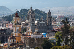 View over colonial historic centre of Toluca. Mexico stock images