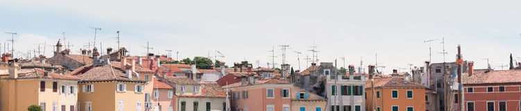 View over the colorful rooftops. On summer day Royalty Free Stock Images