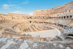 View over the Colosseum. Top view over the ancient amphiteater Colosseum in Rome, Italy Stock Photography