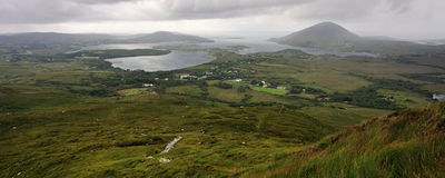 View over Connemara National Park,. Very nice and famouse NP in Ireland Stock Photography