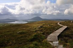View over Connemara National Park,. Very nice and famouse NP in Ireland Stock Image