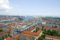 View over copenhagen, denmark Stock Photos