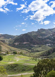 View Over Cortijo Grande Golf Course to Cabrera Royalty Free Stock Photos
