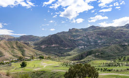 View Over Cortijo Grande Golf Course to Cabrera Stock Photography