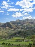 View Over Cortijo Grande Golf Course to Cabrera Stock Photo