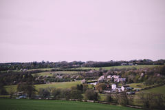View over the countryside in the Chilterns Vintage Retro Filter. Royalty Free Stock Photos