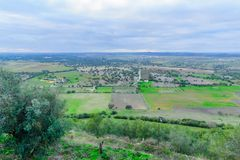 View over countryside from Monsaraz Royalty Free Stock Photos