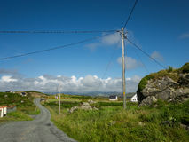 View over the countryside near Maghery, County Donegal, Royalty Free Stock Photos