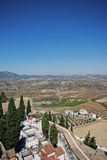 Cemetery and countryside, Olvera, Andalusia. Stock Photography