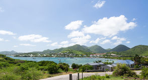 View over Cul de Sac on St Martin Stock Image