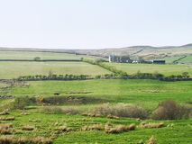 A view over the cumbrian hillside stock photos