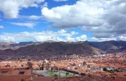 A view over Cuzco Stock Photography