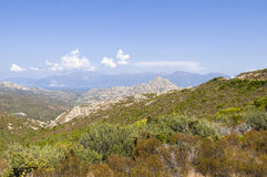 View over Désert des Agriates Corsica Stock Photography