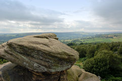 View over Dales from Brimham R. View over Nidderdale from Brimham Rocks, Yorkshire, England stock images