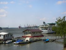 View over Danube River in Braila, Romania. Danube River in Braila, Romania Stock Photos
