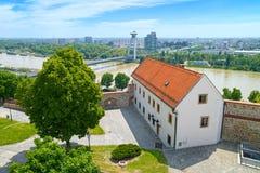 View over Danube river in Bratislava, Slovakia royalty free stock image
