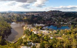 View over Daylesford royalty free stock photography