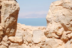 View over the dead sea Royalty Free Stock Photos