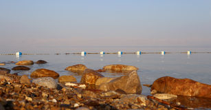 View over the dead sea -- from the Jordan coastline Stock Image