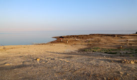 View over the dead sea -- from the Jordan coastline Royalty Free Stock Photography