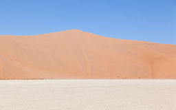 View over the deadvlei with the famous red dunes of Namib desert Royalty Free Stock Images