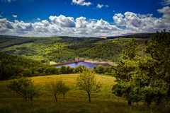View over Derwent reservoir royalty free stock photos