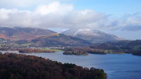 View over Derwent Water, Lake District, Northern England Stock Photo