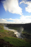 View over Dettifoss waterfall Stock Image