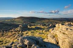 Hayne Down Dartmoor. View over Devon from Hayne Down, Dartmoor National Park Devon Uk Stock Images