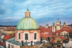 The view over the dome of Saint Francis of Assisi church and red Stock Photo