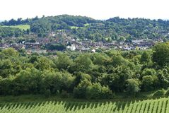 View over Dorking. Surrey. England Royalty Free Stock Photos